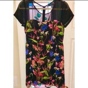 Forever 21 black floral mini dress